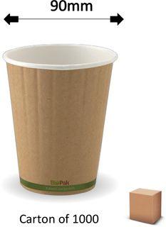 12oz GREEN STRIPE DOUBLE WALL CUPS (1000