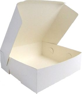 CAKE BOX 250x250x100 (MILK BOARD) 100pkt