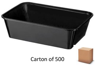 650ml BLACK PLASTIC CONTAINERS (500)