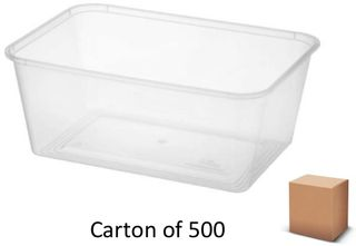 1000ml RECT PLASTIC CONTAINERS (500)