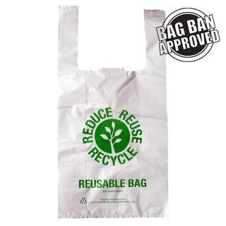 SMALL REUSABLE SINGLET BAGS (100/PKT)