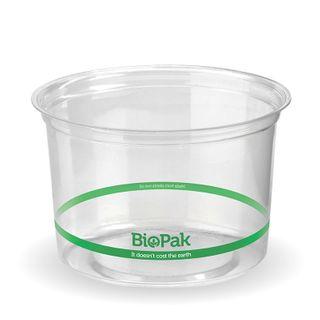 CLEAR PLA BIOBOWL 500ML (500)