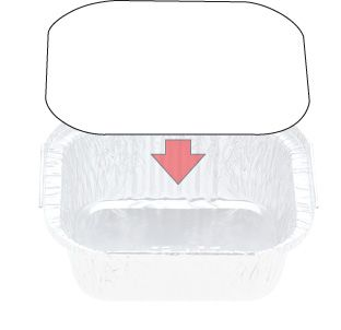 LID TO SUIT 7114 FOIL CONTAINERS (900)