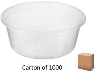 10oz ROUND PLASTIC CONTAINERS 300ml 1000