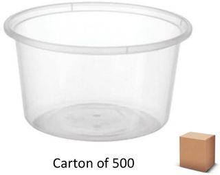 16oz ROUND PLASTIC CONTAINERS 440ml (500