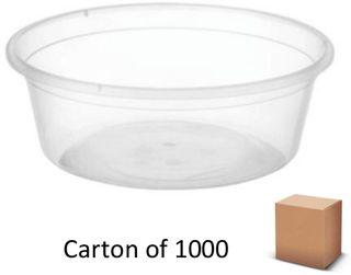 8oz ROUND PLASTIC CONTAINERS 280ml (1000