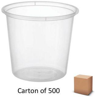 30oz ROUND PLASTIC CONTAINERS 700ml (500