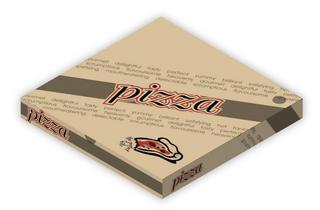 "10.75""PERFECT BITE BROWN PIZZA BOXES 100"