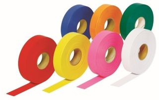 White Dy-Mark Flagging Tape