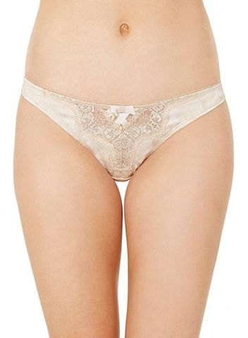 NARAN SILK THONG WITH LACE