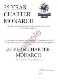Charter Monarch Cert