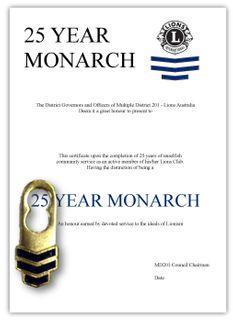 Monarch Tab & Cert