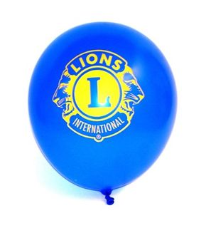 Blue Balloons with Lions Logo