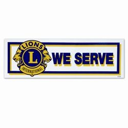 """WE SERVE"" Bumper Sticker"