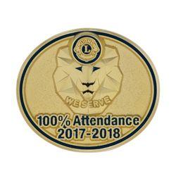 100% Attendance Pin 2017/18