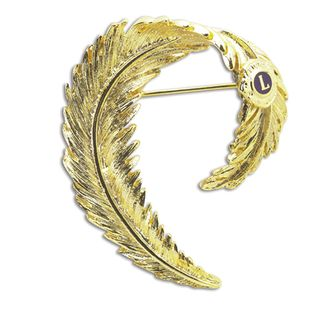 Golden Feather Pin - d