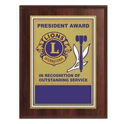 President Plaque - c