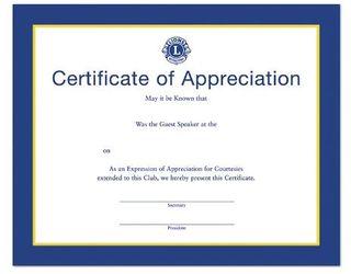 Guest Speaker Certificate
