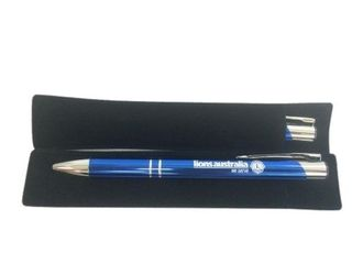 Blue and Silver Pen