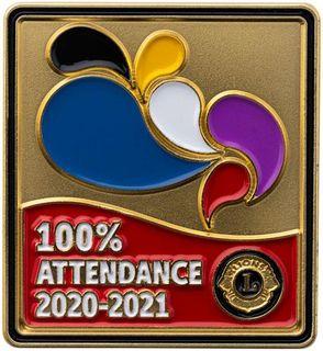 2020-21 100% Attendance Pin
