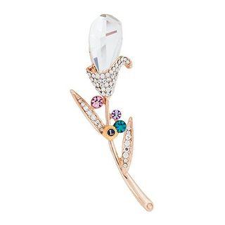 Crystal Flower Pin