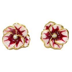 Gold Pansy Earrings