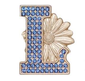 L Daisy Pin - Gold