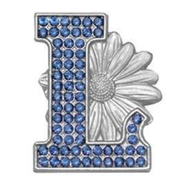 L Daisy Pin - Silver