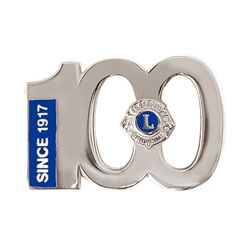 Centennial Silver Lapel Pin