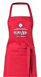 Christmas Cake Apron - Red