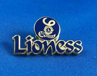 Lioness Purple Logo Brooch