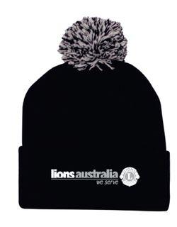 Lions Aust Pom Pom Beanie