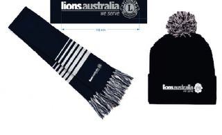 Lions Aus Scarf and Beanie