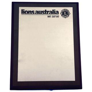 Lions Aust Timber Plaque - G