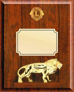 Walnut Plaque with Lion - c