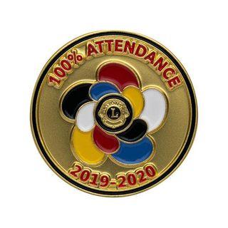 100% Attendance Pin 19/20