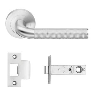 DESIGNER DOORWARE FLINDERS-KAMEN LEVER PRIVACY SET SC