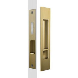 MARDECO SLIDING PRIVACY SET SATIN BRASS