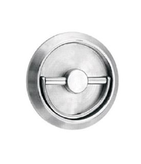 FLUSH PULL RING LATCH 76MM SS