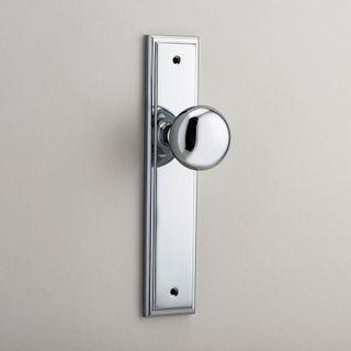 DOOR KNOB CAMBRIDGE ON PLATE LATCH CP