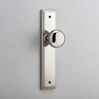 DOOR KNOB CAMBRIDGE ON PLATE LATCH PN
