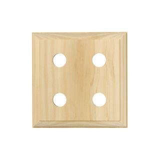 QUAD SOCKET MOUNTING BLOCK PINE