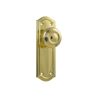 DOOR KNOB KENSINGTON LATCH PB