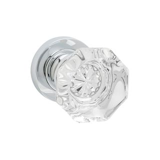 DOOR KNOB SOPHIA GLASS ROUND ROSE CP