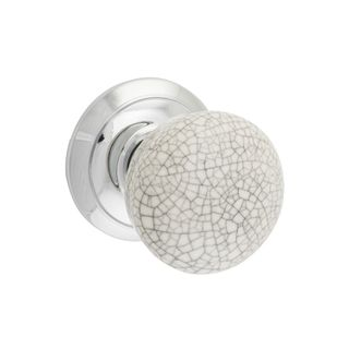 DOOR KNOB ROUND ROSE CRAZED WHITE CP