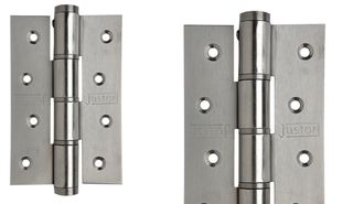 JUSTOR SINGLE ACTION HINGE 120X80MM WHT