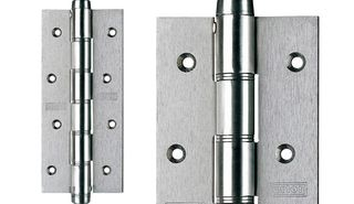 JUSTOR SINGLE ACTION HINGE 180X80MM WHT