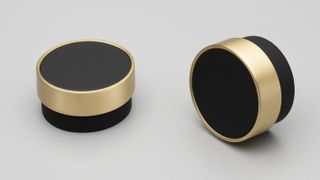 KETHY RADIO KNOB 48MM DIA BLK+BRASS RING