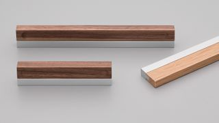 Aluminium and Walnut