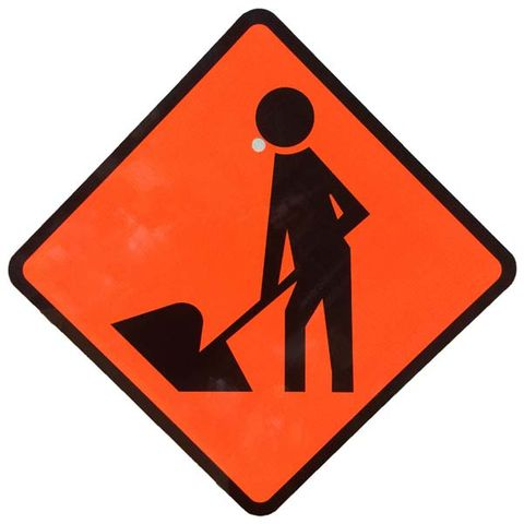 "Sign Diamond ""Men at Work"" 750x750"